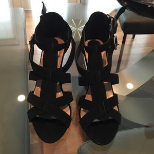 Shoes - NEW Black suede wedges