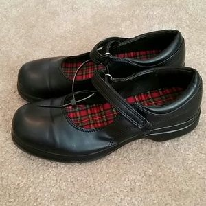 Girls Black Mary Jane Shoes,  Sz 2