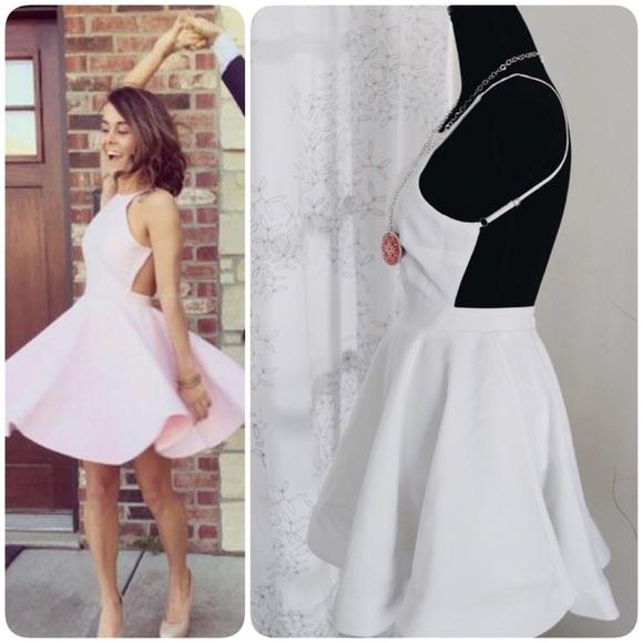 L atiste White Backless Dress 75cfc8250