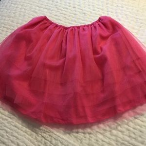JCrew kids Soft tule fuchsia pink girls skirt