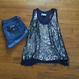 Nicole Miller Tops - SALE • Nicole Miller sequin and chiffon tank