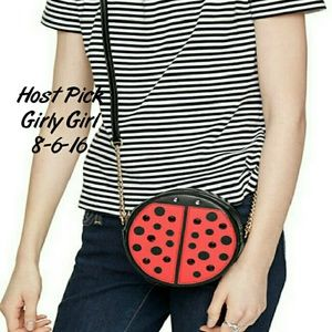 kate spade Handbags - HP .Kate Spade Ladybug Purse Turn Over A New Leaf