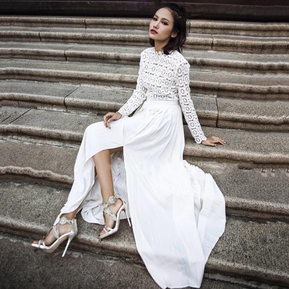 0d1ab6531eaf Self-Portrait Dresses | Self Portrait Bridal White Crochet Lace ...