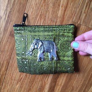 Silver elephant coin purse