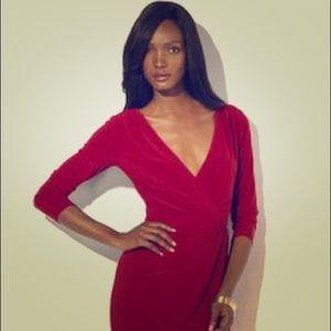 Ralph Lauren red jersey dress
