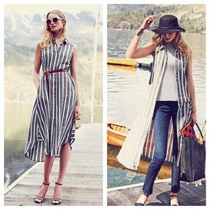 Anthropologie Dresses & Skirts - Anthro sleeveless button down dress