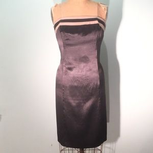 Willi Smith Dresses & Skirts - Willi Smith black satin strapless dress w/stripes