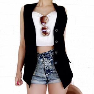 Express leather vest