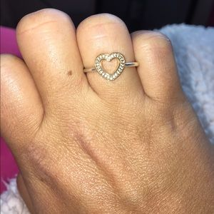 9a2ecf4e5 norway pandora silver and gold heart ring 78244 98672