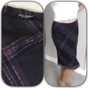 Betsey Johnson purple/black skirt