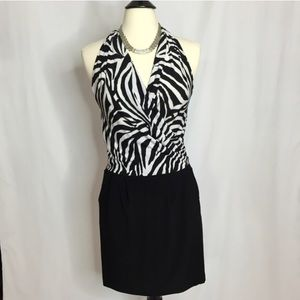 Dresses & Skirts - Zebra Print Halter Dress