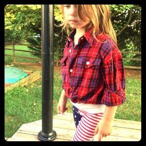 GAP kids plaid flannel shirt 4 boys girls