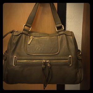 Olivia and Joy olive green satchel