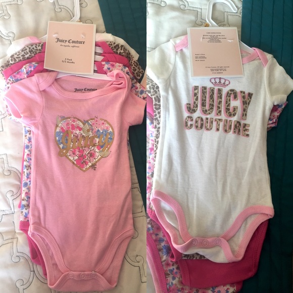 e17fa58f9 Juicy Couture One Pieces | 5 Pack Onesies Set | Poshmark