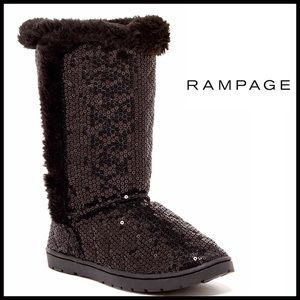 Rampage Other - ❗️1-HOUR SALE❗️RAMPAGE Boots Sequin Faux Fur Lined