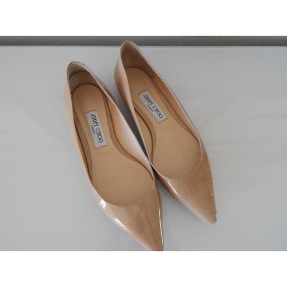 1bc52018414 Jimmy Choo Shoes - Jimmy Choo Alina Nude Patent flats