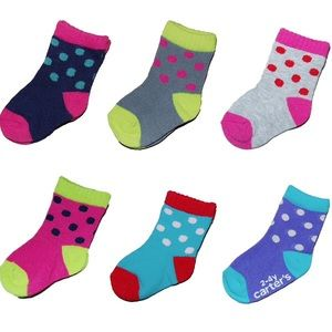 Carter's Other - NEW Carter's Girl's 6-pack Bright Socks 0-3 Months
