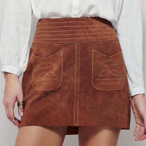 3b0de4ac7 Free People Skirts | Mad Love Suede Mini | Poshmark