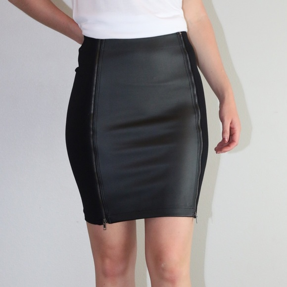 60d40df2e5 Staccato Skirts | Black Fitted Faux Leather Pencil Skirt | Poshmark