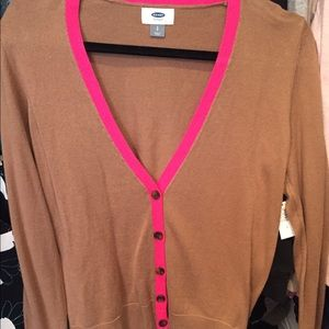 Old navy brown and pink button up cardigan