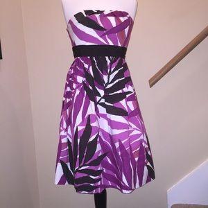 Suzi chin  Dresses & Skirts - Suzi Chin Maggy Boutique Palm Leaves Dress Sz 12