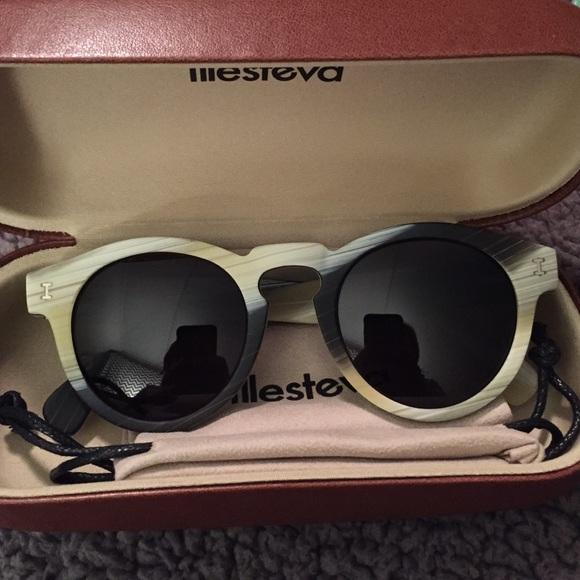 2eb4ef111e2 Illesteva Leonard Matte Dark Horn Sunglasses NEW