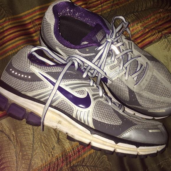 Nike Pegasus 27 purple silver size 9.5