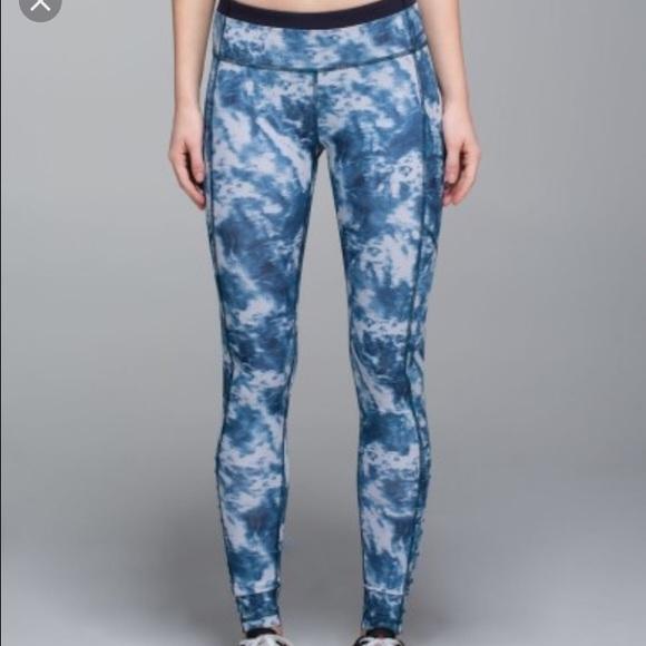 72ff7e1c2e lululemon athletica Pants | Lululemon Blue Tie Dye Leggings | Poshmark