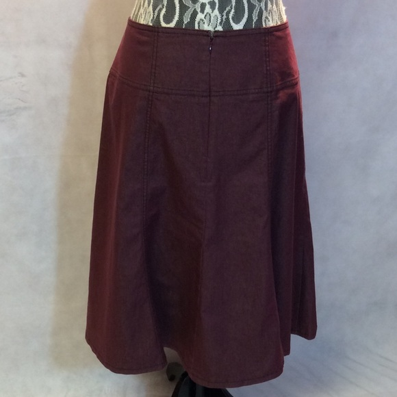 63% off NYCC Dresses & Skirts - SZ 14 NYCC BURGUNDY DENIM SKIRT ...