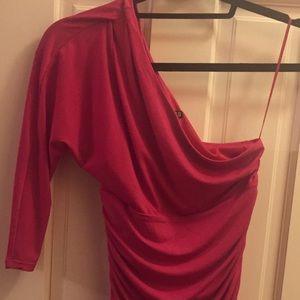 Express hot pink dress