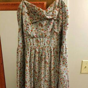 Deb Dresses & Skirts - Baby Blue Floral Dress