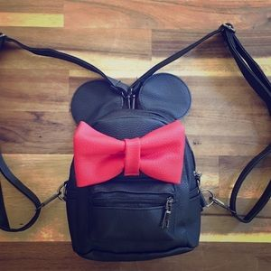 Minnie Mouse Backpack Vegan Leather Mini Disney