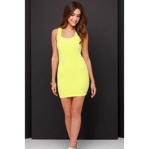 Lulus Petite Lime Green Bodycon Dress