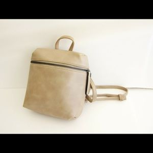 Minimal faux leather backpack
