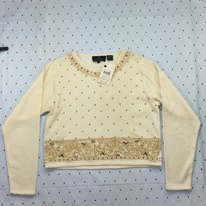 Carol Little Knitwear Beaded Sweater
