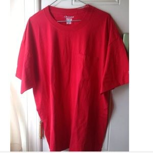 Champion Other - Champion: Red Short Sleeve Pocket T-Shirt