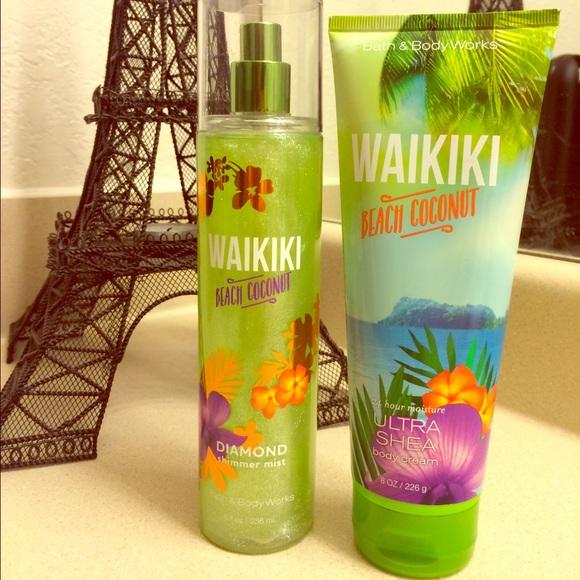 Waikiki Beach Coconut Body Cream Shimmer Mist Nwt
