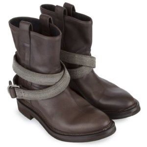 Brunello Cucinelli motorcycle boots