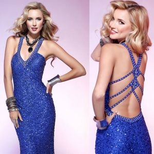 Scala Dresses & Skirts - 🎉HP🎉 Scala royal blue sparkle Prom Dress