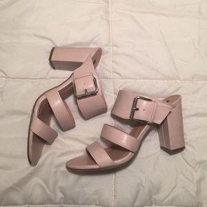 Pink Three Strap Mules