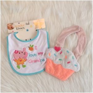Tender Kisses Other - I love my Grandpa Velcro Bib & Cupcake Bib