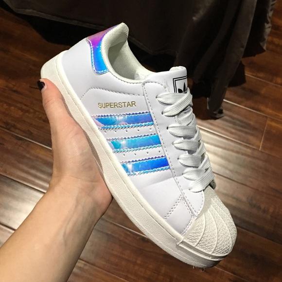 adidas iridescent shoes