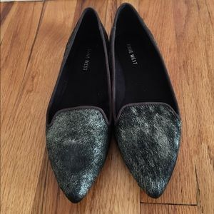 Nine West Metallic Fur Flat