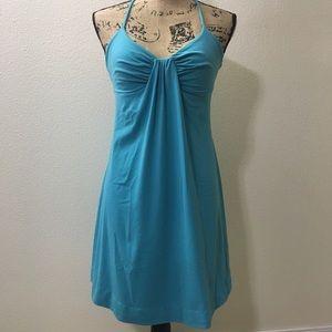 Susana Monaco Dresses & Skirts - 👗 Aqua Blue Susana Monaco Tie Neck Flair Dress