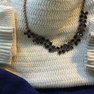 J. Crew Jewelry - JCrew Blue and Grey Glass Necklace