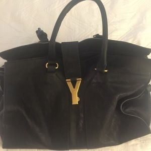 YSL Black Leather Bag