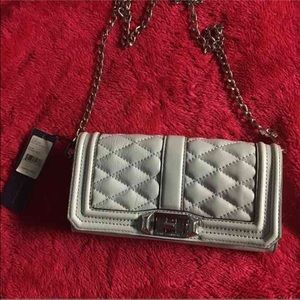 NWT Rebecca Minkoff Quilted Love Clutch Crossbody