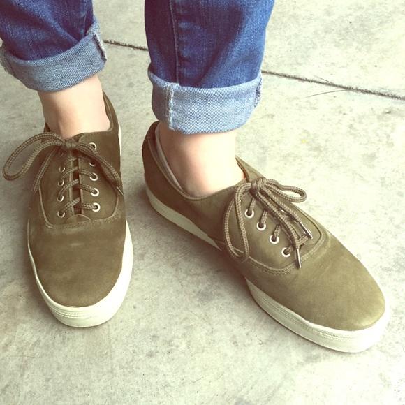 Keds Shoes | Olive Green Suede Keds