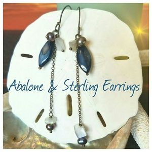 Artisan Jewelry - CLOSET CLOSING!Abalone, Pearl, & Sterling Earrings