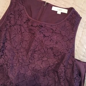 Lace & silk dress
